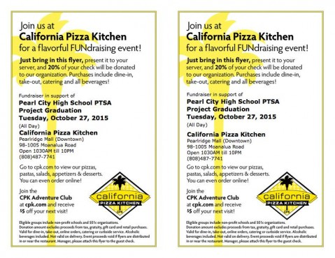 Support PCHS Project Grad @ tonight\'s CPK Fundraiser | MyPearlCity ...