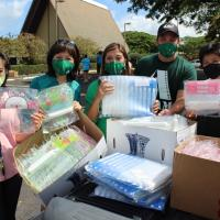 Pearl City Complex receives generous donation from Aiea School Supply Drive orga
