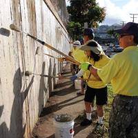 Pearl City Lions coordinate community pride project at North King & Houghtailing
