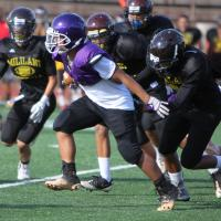 OIA White Football Junior Varsity scrimmage: Pearl City Chargers vs. Mililani Tr