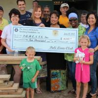 P C Lions & District 50 Clubs present $10,000 Weinberg Grant to PARENTS, Inc.