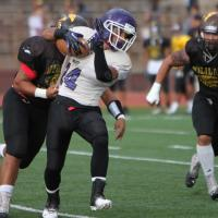 OIA White Football Varsity scrimmage: Pearl City Chargers vs. Mililani Trojans