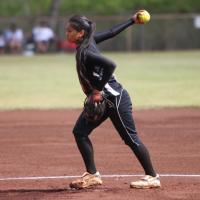 Campbell's Palipti tosses a five hitter to beat Pearl City 15-5.