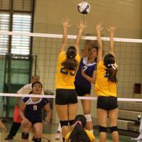 Pearl City over Hilo 3-2 in first round of 2012 HHSSA State DI Girls VB Champion