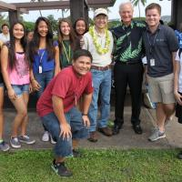 Pearl Harbor Historic Trail Project bonds Aiea Intermediate students with city.