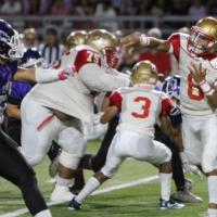 Roosevelt Rough Riders QB Sky Ogata passed for107 yards and 2 touchdowns through