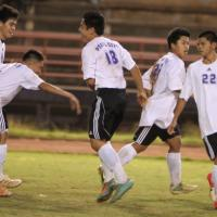 Pearl City defeats Castle 2-0 in first round of OIA Red Boys Soccer Play-offs.