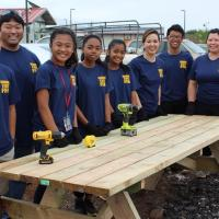 Students lend a hand at Future Farmers of America Day of Service at Kahauiki Vil