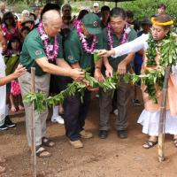 Hawaiian Blessing opens UGC Peace & Heroes' Rose Garde's in Pearl City (4/12/14