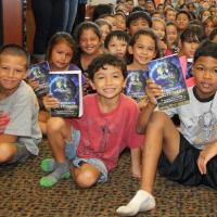 Waiau Elementary third graders receive free dictionaries from Rotary Club of Pea