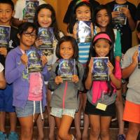 Manana Elementary 3rd graders receive 71 free dictionaries from Pearlridge Rotar