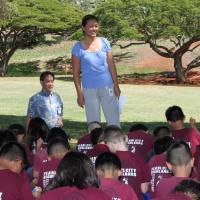 Pearl City Highlands Elementary 3rd graders receive free dictionaries from Rotar