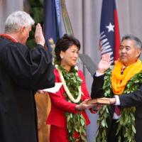 Inauguration ceremony held for Governor David Ige (12/1/2014)