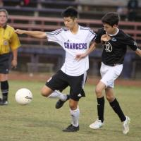 Kapolei shuts out Pearl City 2-0 in OIA boys varsity soccer (1/16/2015)