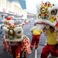 Chinese Lion Dance Blessing held at the Pearl City Shopping Center (2/20/2015)