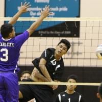 Kapolei turned back Pearl City 25-16, 25-23 in OIA D1 West boys varsity volleyba