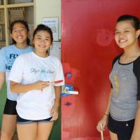Pearl City Community Association and PCHS Leo Club help paint classroom doors at
