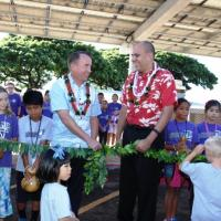 Pearl City Elementary holds lei cutting ceremony for new photovoltaic PV covered