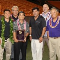 Michael Nakasone honored at 40th Annual Oahu Marching Band Festival (11/2/2015)