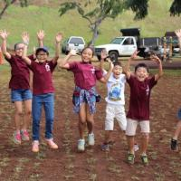Hawaiian Electric volunteers plant a playground at Pearl City Highlands Elementa