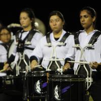 Pearl City High School Marching Band performed during the Pearl City vs, Waipahu