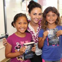 Pearlridge Rotarians deliver free dictionaries to Waiau Elementary third graders
