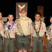 Five earn the rank of Eagle Scout from Pearl City Troop 75 (3/26/2017)