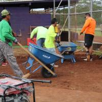 Masons Union Local 630 volunteers improve PCHS Chargers Baseball facility (12/17