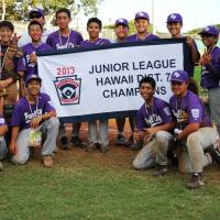 Pearl City wins Juniors District 7 Championship after defeating Waipio 7-3.