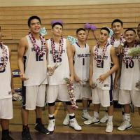 Pearl City Chargers basketball team celebrates senior night (1/26/2013)