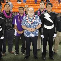Governor Abercrombie makes a stop at marching band festival (11/4/20113)