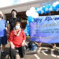 "Momilani Elementary ""Gratitude Drive Through Celebration"" for retiring Principal"