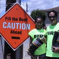 Hawaii Fire Fighters support MDA with Fill the Boot fundraiser at Pearl City Sho