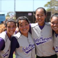 Lady Chargers sweep Waianae 13-3, 8-4 in OIA Junior Varsity Softball (9/24/11)