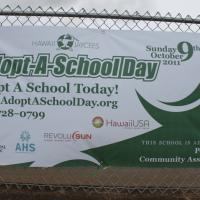 Adopt-A-School Day at Pearl City Highlands Elementary School (10/9/11)