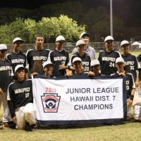 Waipio wins District 7 Juniors Championship Title 9-5 over Pearl City (7/5/11)