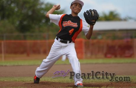 Panui pitches Ewa Beach past Pearl City 5-3 in District 7 Majors LL Tourney.