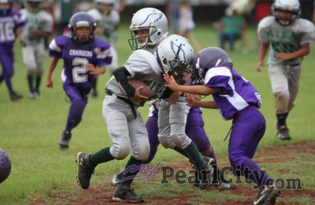 Aiea over Pearl City 20-6 in Mitey Mites Pop Warner Football (9/23/2012)