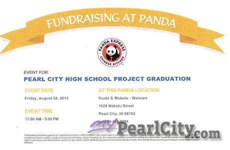 PCHS Project Graduation FUNDRAISER AT PANDA this FRIDAY