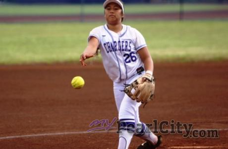 Lady Chargers rally past Waianae 3-2 in OIA West softball (3/16/2018) Jozayah Ir