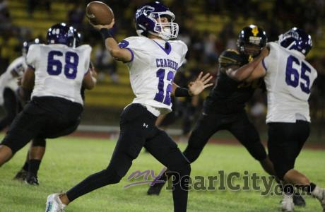 Canyon throws for 371 yards and 4 TD's in Pearl City's 35-34 OT loss to Nanakuli