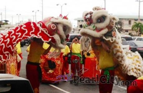 Chinese Lion Dance Celebration this Friday at the Pearl City Shopping Center