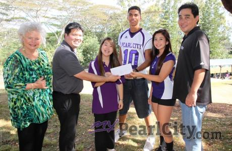 Pearl City Shopping Center donates $500.00 to Pearl City High School Athletics