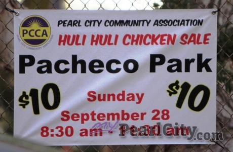 PCCA HOKU BBQ CHICKEN fundraiser this Sunday, September 28 at Pacheco Park