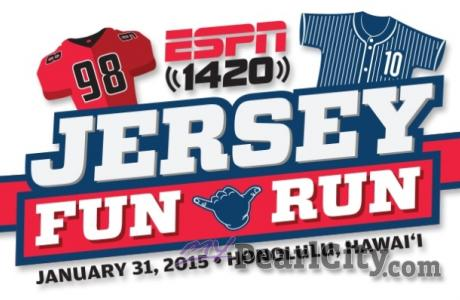 ESPN 1420 JERSEY FUN RUN Packet Pick-Up at Pearl City Shopping Center this Satur