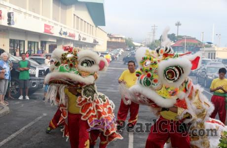 Traditional Chinese Lion Dance blessing this Friday at the Pearl City Shopping C
