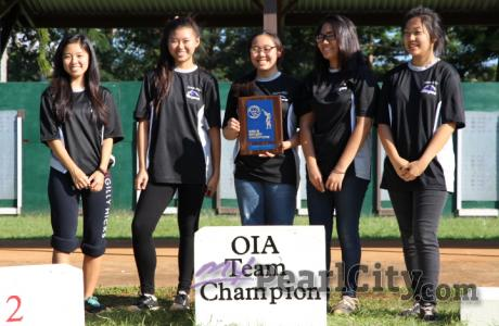 PEARL CITY GIRLS WIN OIA AIR RIFLERY TEAM CHAMPIONSHIP! TANABE wins back to back