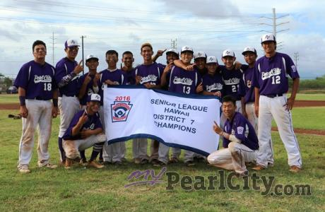 Pearl City sweeps MKH to capture D7 Seniors Little League Championship