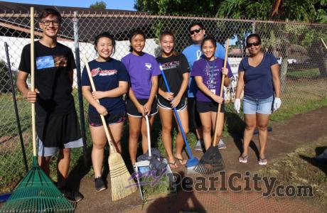 Volunteers spruce up Momilani Community Center grounds in Pearl City