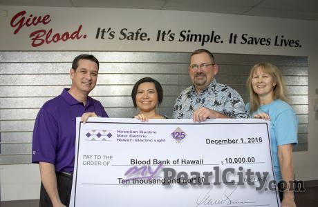 History of giving tied to Hawaiian Electric's latest donation to Blood Bank of H
